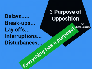 Three Purpose of Opposition
