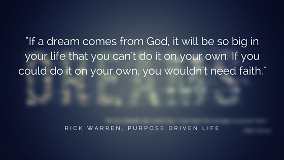 What To Do When God Gave You A Dream